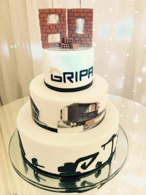 Gâteau pour l'anniversaire de 80 années de Gripa - corporatif- Montréal - Québec - Corporate cakes Gripa