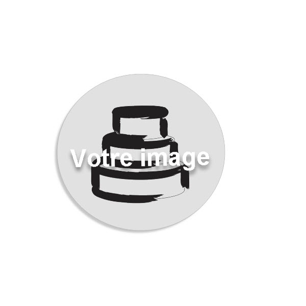 Plaque en impression comestible pour cupcakes personnaliser- Edible tag in fondant
